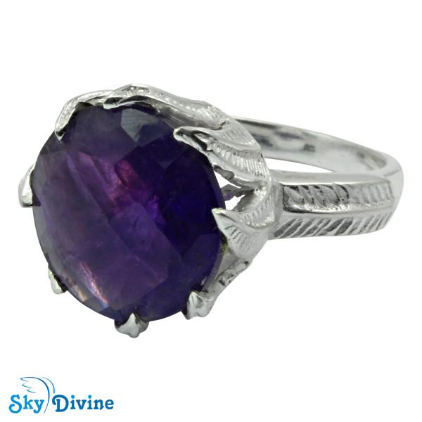 Sterling Silver amethyst Ring SDR2150 SkyDivine Jewellery RingSize 7.5 US Image2