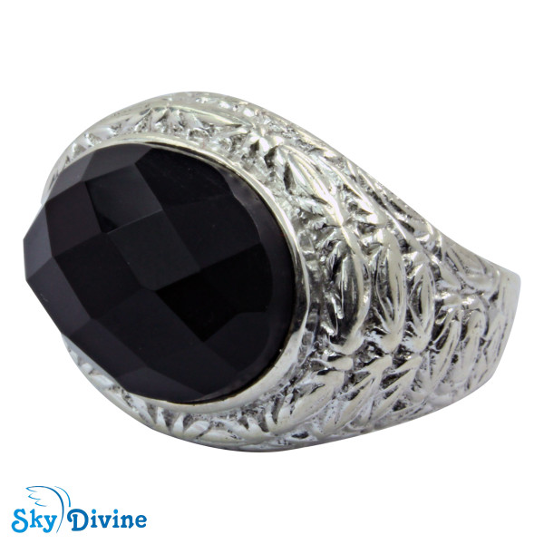 925 Sterling Silver Black Onyx Ring SDR2151 SkyDivine Jewelry RingSize 8 US Image2