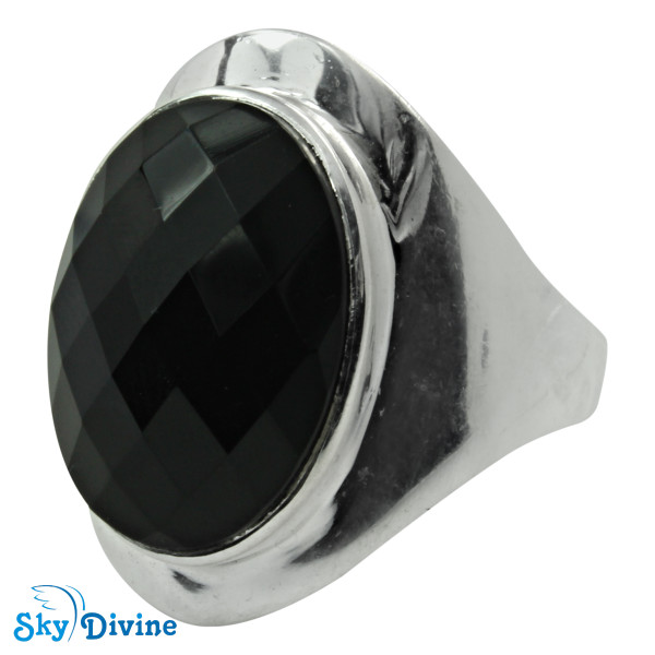 Sterling Silver Black Onyx Ring SDR2152 SkyDivine Jewellery RingSize 9 US Image2