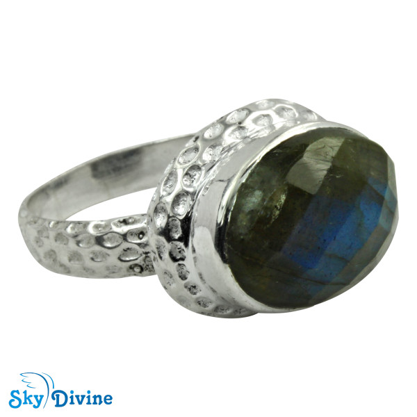 Sterling Silver Labradorite Ring SDR2162 SkyDivine Jewellery RingSize 10 US Image2