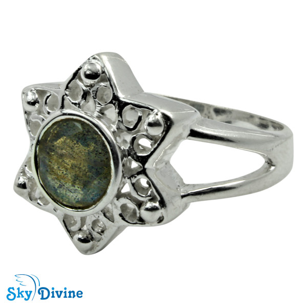 Sterling Silver Labradorite Ring SDR2165 SkyDivine Jewellery RingSize 9 US Image2