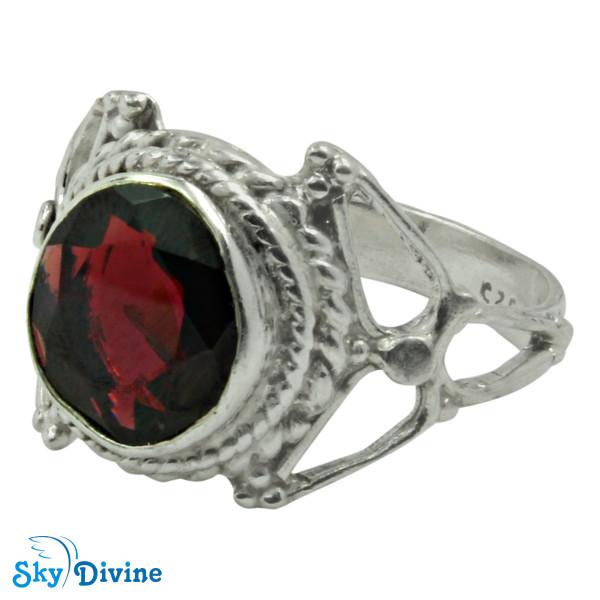 Sterling Silver Garnet Ring SDR2169 SkyDivine Jewellery RingSize 8.5 US Image2