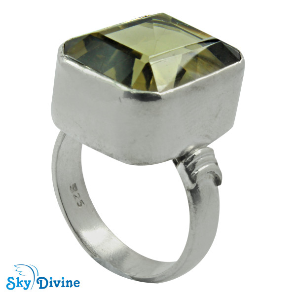 Sterling Silver Green Amethyst Ring SDR2173 SkyDivine Jewelry RingSize 9 US