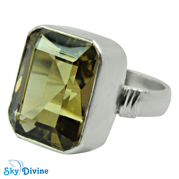 Sterling Silver Green Amethyst Ring SDR2173 SkyDivine Jewelry RingSize 9 US Image2