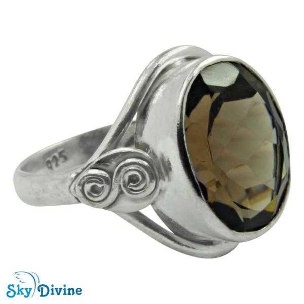 Sterling Silver smoky topaz Ring SDR2175 SkyDivine Jewellery RingSize 8.5 US Image2