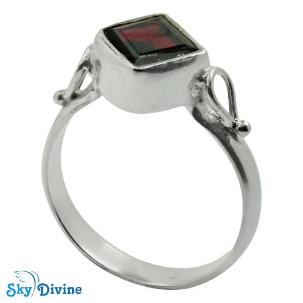 Sterling Silver Garnet Ring SDR2178 SkyDivine Jewellery RingSize 9 US Image2