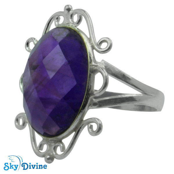 Sterling Silver amethyst Ring SDR2180 SkyDivine Jewelry RingSize 9 US Image2
