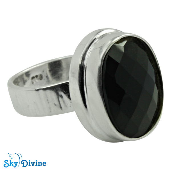 925 Sterling Silver Black Onyx Ring SDR2182 SkyDivine Jewellery RingSize 7.5 US Image2
