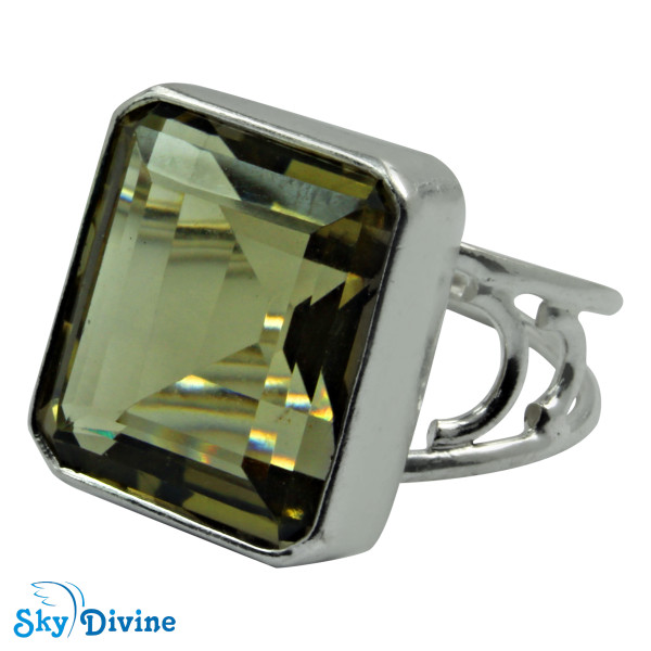Sterling Silver Green Amethyst Ring SDR2185 SkyDivine Jewellery RingSize 7.5 US Image2