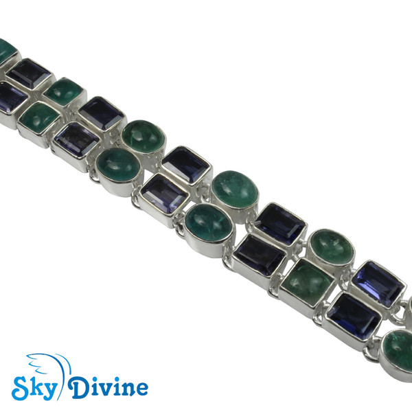 925 Sterling Silver iolite Bracelet SDABR02 SkyDivine Jewellery Image3