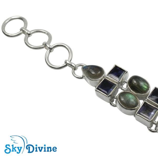 Sterling Silver iolite Bracelet SDABR03 SkyDivine Jewelry Image2