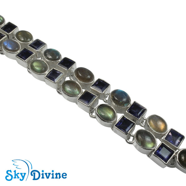 Sterling Silver iolite Bracelet SDABR03 SkyDivine Jewelry Image3
