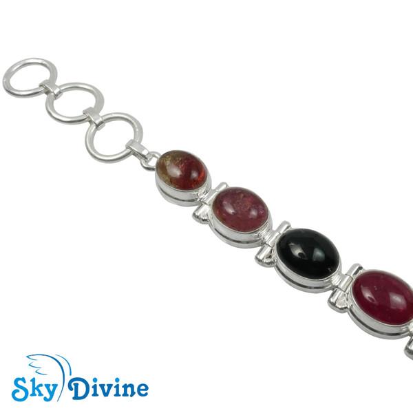 Sterling Silver tourmaline Bracelet SDBR2101 SkyDivine Jewellery Image2