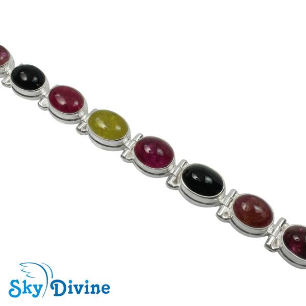 Sterling Silver tourmaline Bracelet SDBR2101 SkyDivine Jewellery Image3
