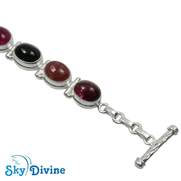 Sterling Silver tourmaline Bracelet SDBR2101 SkyDivine Jewellery Image4