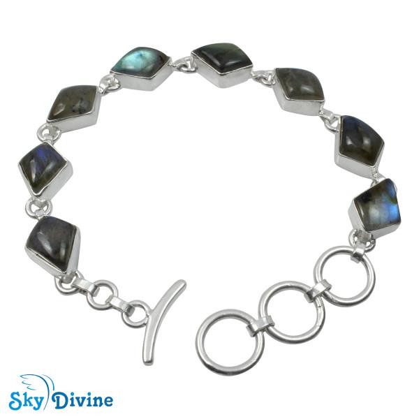 925 Sterling Silver Labradorite Bracelet SDBR2104 SkyDivine Jewellery