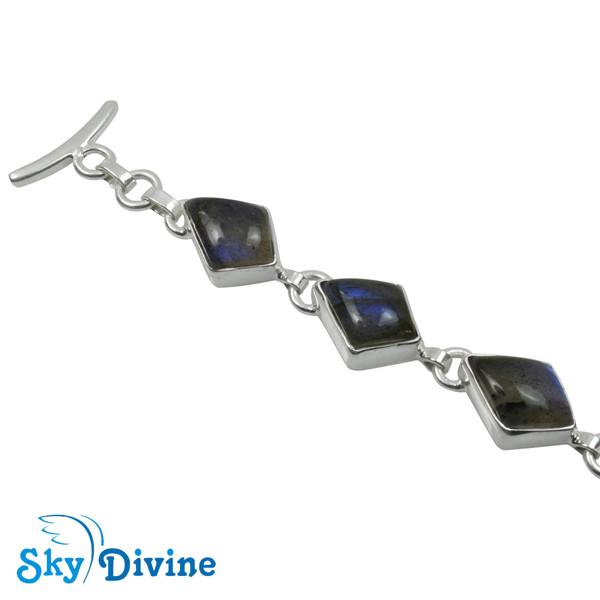 925 Sterling Silver Labradorite Bracelet SDBR2104 SkyDivine Jewellery Image2