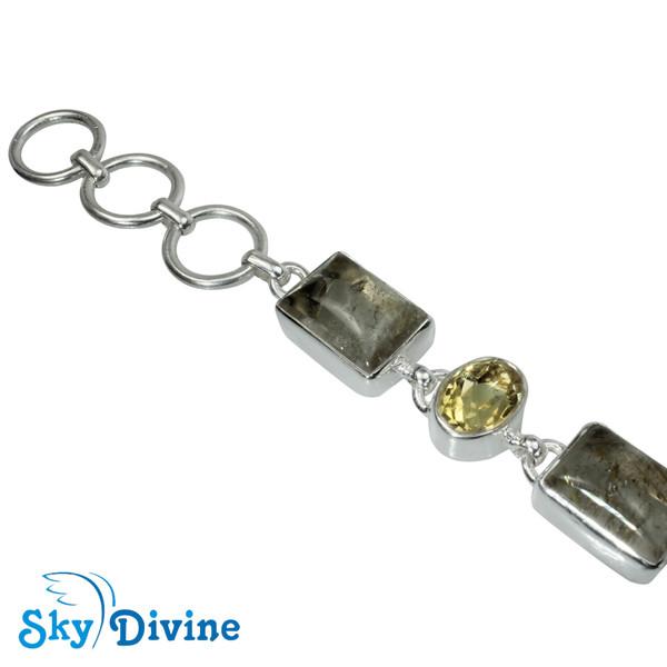 Sterling Silver Golden Rutile Bracelet SDBR2108 SkyDivine Jewellery Image2