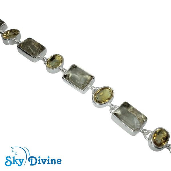 Sterling Silver Golden Rutile Bracelet SDBR2108 SkyDivine Jewellery Image3