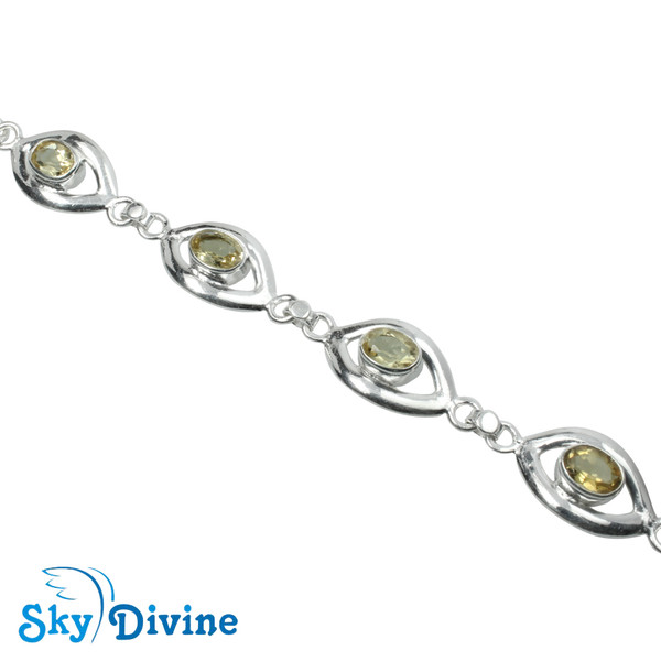 925 Sterling Silver Citrine Bracelet SDBR2111 SkyDivine Jewellery Image2