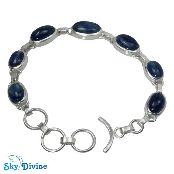 Sterling Silver Kyanite Bracelet SDBR2112 SkyDivine Jewellery