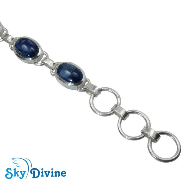 Sterling Silver Kyanite Bracelet SDBR2112 SkyDivine Jewellery Image4