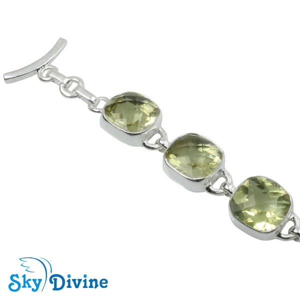 925 Sterling Silver lemon topaz Bracelet SDBR2118 SkyDivine Jewellery Image2