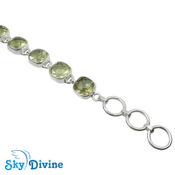 925 Sterling Silver lemon topaz Bracelet SDBR2118 SkyDivine Jewellery Image4