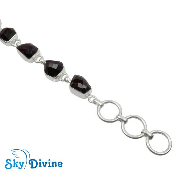 Sterling Silver Garnet Bracelet SDBR2119 SkyDivine Jewellery Image4