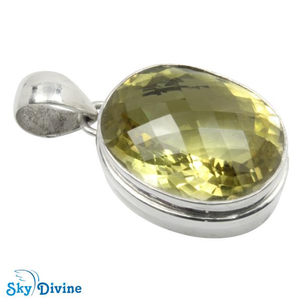 925 Sterling Silver lemon topaz Pendant SDAPN10 SkyDivine Jewelry