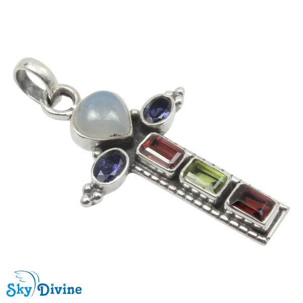 Sterling Silver moon stone Pendant SDAPN17a SkyDivine Jewellery
