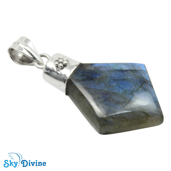 925 Sterling Silver Labradorite Pendant SDAPN04b SkyDivine Jewellery