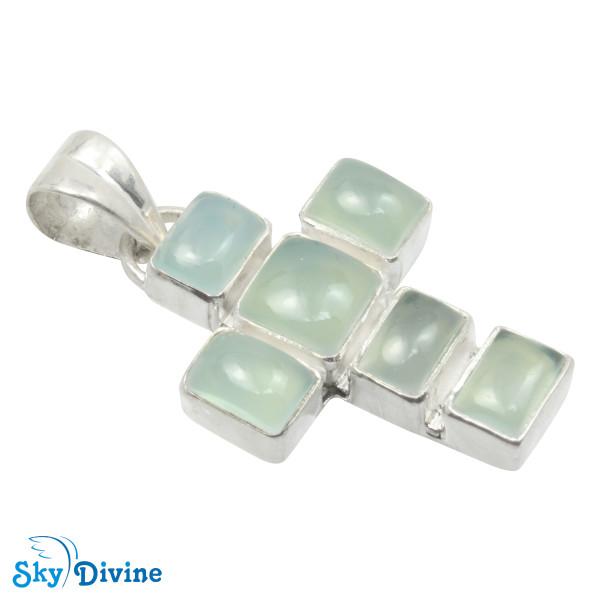 Sterling Silver moon stone Pendant SDAPN12b SkyDivine Jewellery