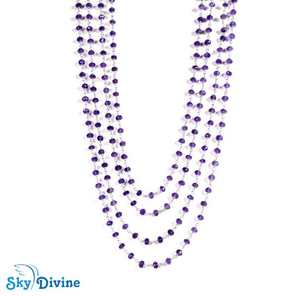 925 Sterling Silver amethyst Necklace SDANK01 SkyDivine Jewellery Image2