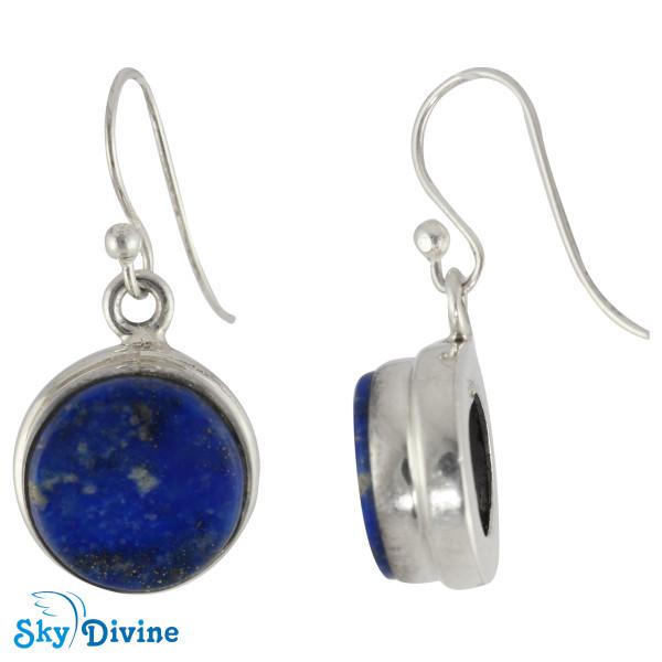 925 Sterling Silver lapis lazuli Set SDAERP13 SkyDivine Jewellery Image3