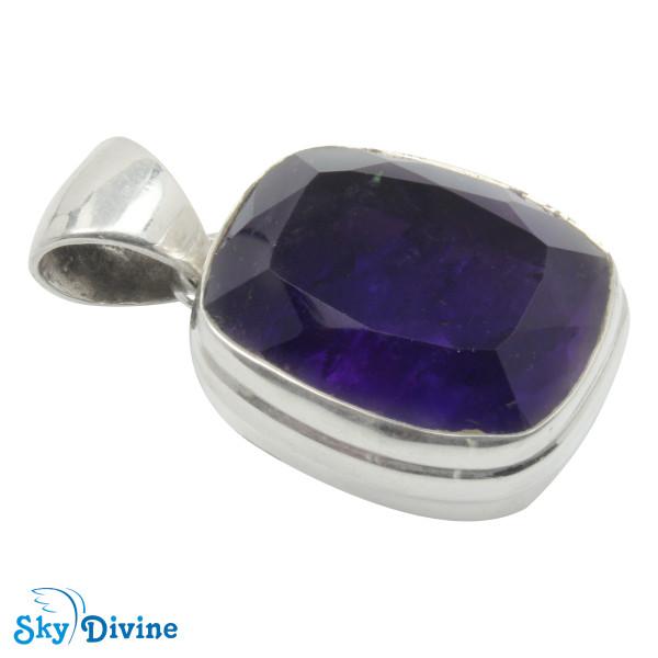 Sterling Silver amethyst Pendant SDAPN11 SkyDivine Jewellery