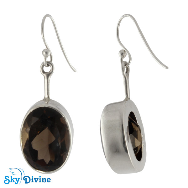 Sterling Silver Smoky Topaz Earring SDAER02 SkyDivine Jewelry Image2