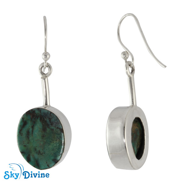 925 Sterling Silver turquoise Earring SDAER03 SkyDivine Jewellery Image2