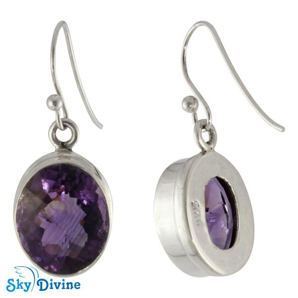 Sterling Silver amethyst Earring SDAER08 SkyDivine Jewellery Image2