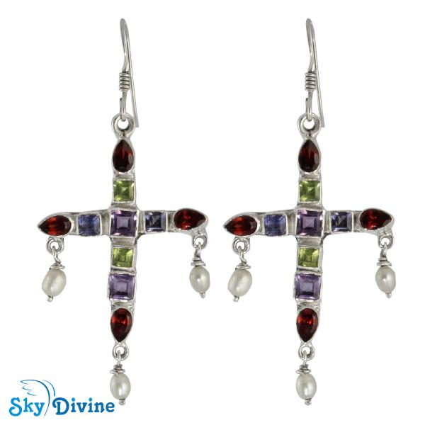 Sterling Silver amethyst Earring SDAER20 SkyDivine Jewellery