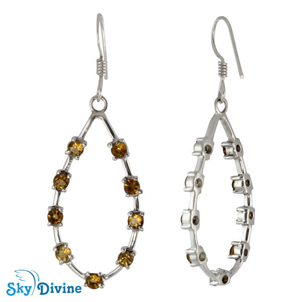 925 Sterling Silver Citrine Earring SDAER24 SkyDivine Jewellery Image2