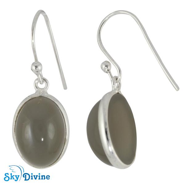 925 Sterling Silver Milky Aquamarine Earring SDER2103 SkyDivine Jewellery Image2