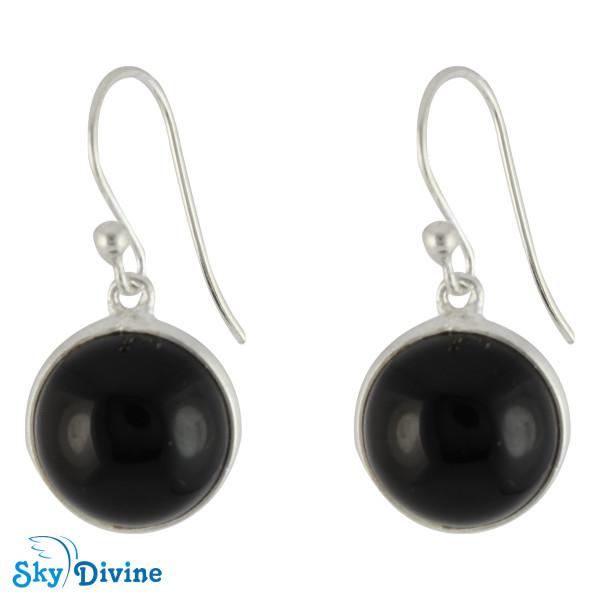 Sterling Silver Black onyx Earring SDER2104 SkyDivine Jewelry