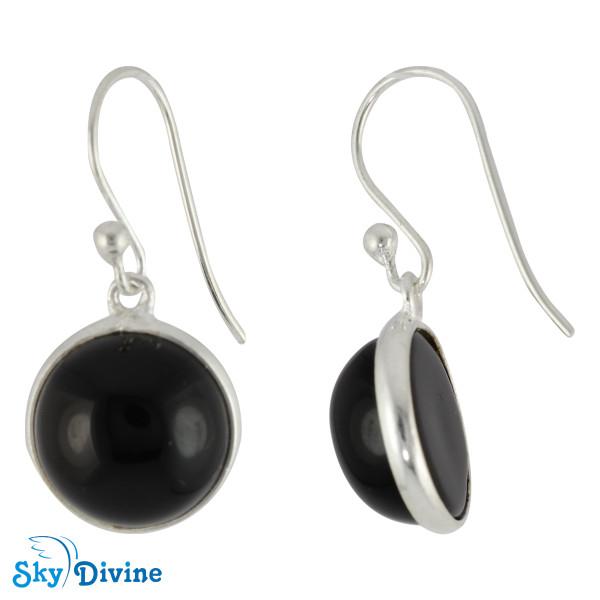 Sterling Silver Black onyx Earring SDER2104 SkyDivine Jewelry Image2