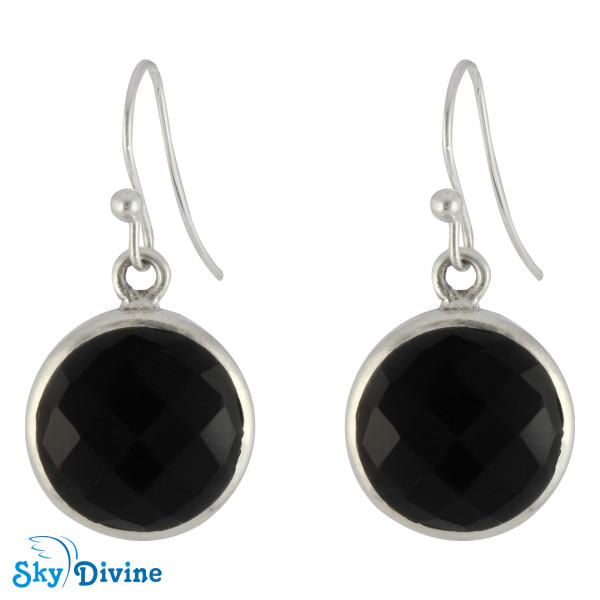 925 Sterling Silver Black onyx Earring SDER2110 SkyDivine Jewellery