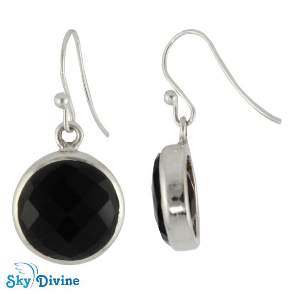 925 Sterling Silver Black onyx Earring SDER2110 SkyDivine Jewellery Image2