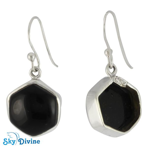 925 Sterling Silver Black onyx Earring SDER2112 SkyDivine Jewellery Image2