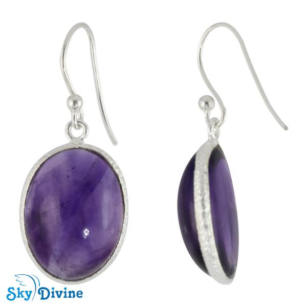 Sterling Silver amethyst Earring SDER2113 SkyDivine Jewellery Image2