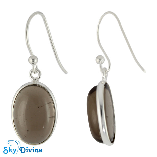 925 Sterling Silver smoky topaz Earring SDER2118 SkyDivine Jewellery Image2