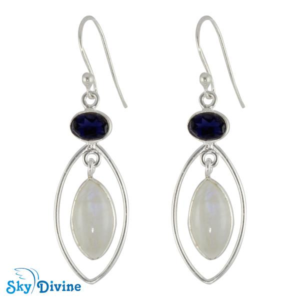 925 Sterling Silver iolite Earring SDER2128 SkyDivine Jewelry